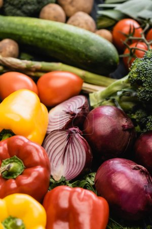 Photo for Close up view of ripe colorful vegetables - Royalty Free Image