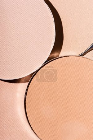 close up view of face powder in circles