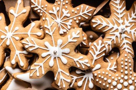 Photo pour Vue rapprochée des biscuits au pain d'épice - image libre de droit