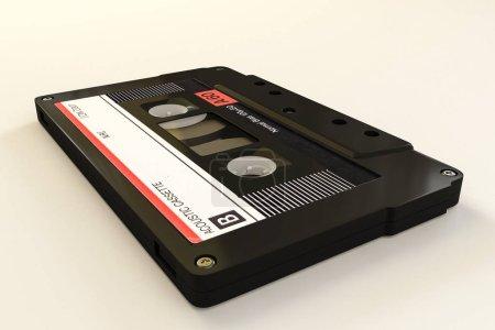 Photo pour Cassette isolée sur fond blanc illustration 3d - image libre de droit