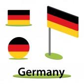 isometric flag germany