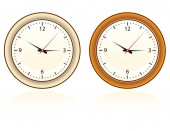 set of two wall clock for home and office