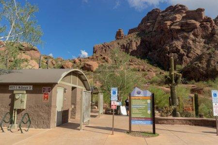 Phoenix,AZ/USA - 10.3.18: The Echo Canyon Trail at...