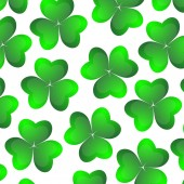Background of clover on a white background for the holiday of St Patrick s Day