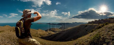 Photo for Tourist and beauty nature landscape Crimea, horizontal photo, travel and vacation concept - Royalty Free Image