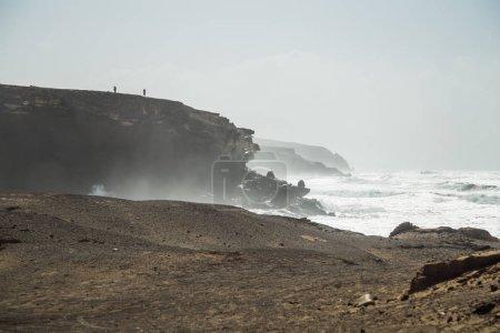 Rocky coast beach in Fuerteventura, Canary Islands...