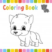 Coloring book pages for kids Cute cartoon vector illustration