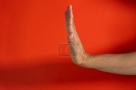 woman hand showing stop sign