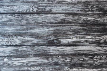 Photo pour Vue du dessus du fond blanc en bois gris avec planches horizontales - image libre de droit