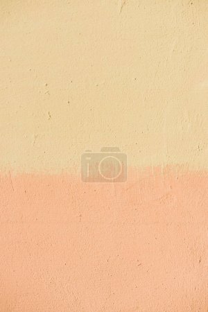 Photo for Full frame image of half painted wall background - Royalty Free Image