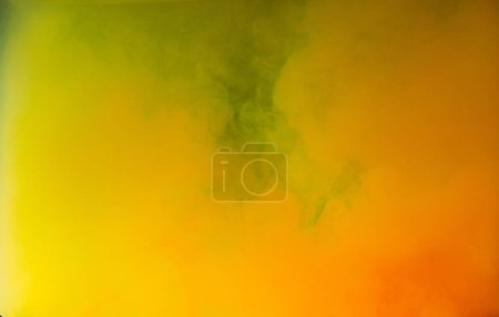 abstract bright yellow and orange ink explosion, artistic background