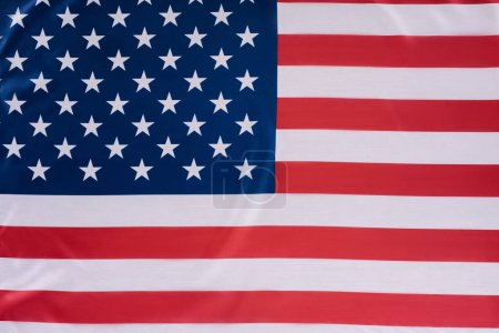 close-up shot of united states flag, Independence Day concept