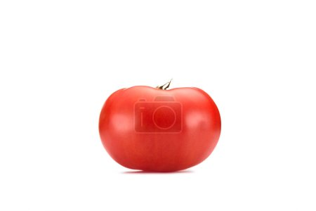 close up view of fresh tomato isolated on white