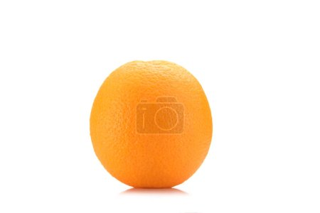 Photo for Close up view of fresh wholesome orange isolated on white - Royalty Free Image
