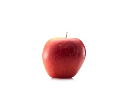 close up view of fresh apple isolated on white
