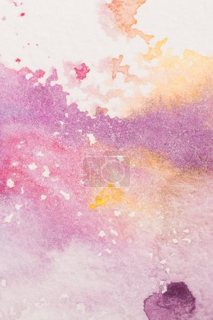 full frame shot of colorful watercolor stains for background