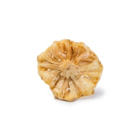 Photo for Tasty dried pineapple isolated on white background - Royalty Free Image
