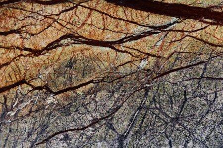 Photo pour Texture abstraite de marbre foncé avec motif naturel - image libre de droit
