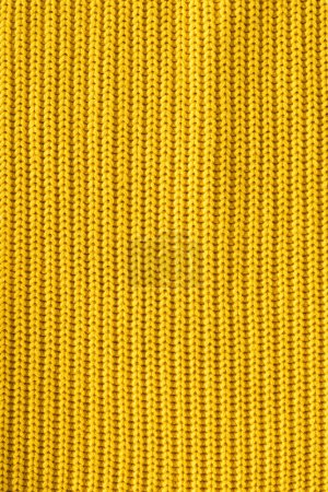 Photo for Close up view of bright yellow woolen fabric as backdrop - Royalty Free Image