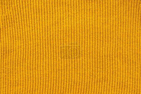 Photo pour Plein cadre de toile de laine jaune toile de fond - image libre de droit