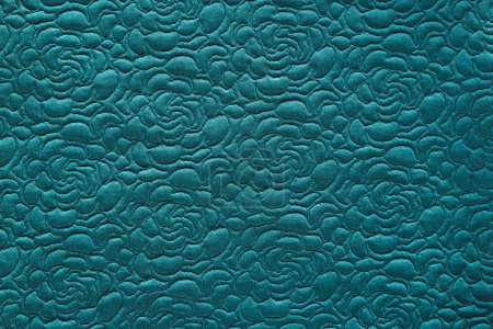 full frame of blue textured fabric background