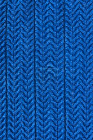 plein cadre de tissu de laine bleu foncé avec motif en toile de fond