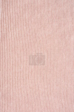 full frame of pink woolen fabric background