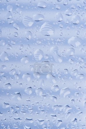 beautiful calm transparent water drops on grey abstract background