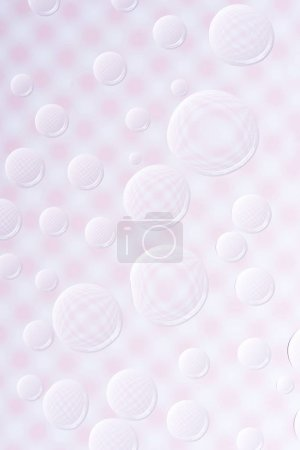 beautiful calm clean water drops on light abstract background