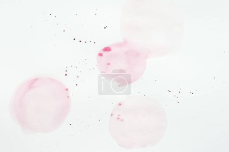 Photo for Abstract light pink watercolor splatters on white paper - Royalty Free Image