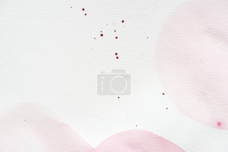 Photo for Abstract background with light pink watercolor painting on white paper - Royalty Free Image