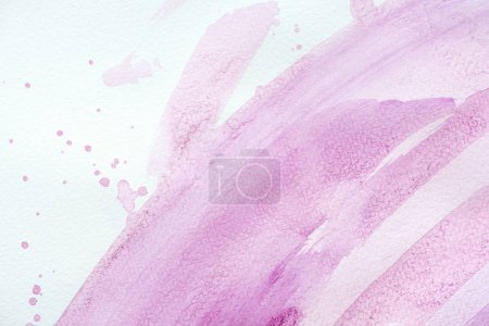 abstract background with purple watercolor strokes with splatters