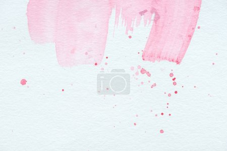 Photo for Abstract texture with pink watercolor strokes and splatters - Royalty Free Image