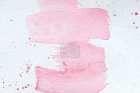 Photo pour Abstrait texture créatif avec des traits aquarelles roses et éclaboussures - image libre de droit
