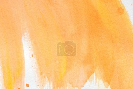 abstract orange watercolor strokes as wallpaper