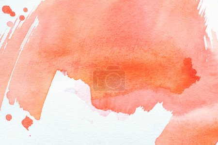 artistic background with red watercolor painting on white paper