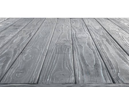 surface of grey wooden planks on white background