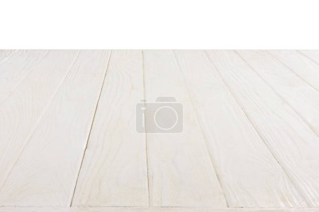 surface of white wooden planks isolated on white background
