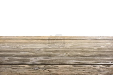 template of brown wooden floor on white background