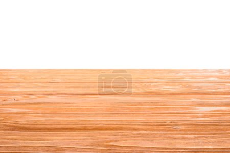 template of orange wooden floor on white background