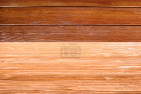 template of orange wooden floor with brown planks on background