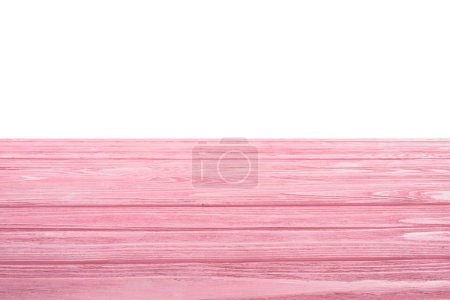 template of pink wooden floor on white background