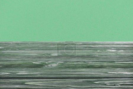 template of dark green wooden floor on green background