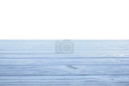 template of light blue wooden floor on white background