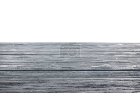 template of grey wooden floor on white background