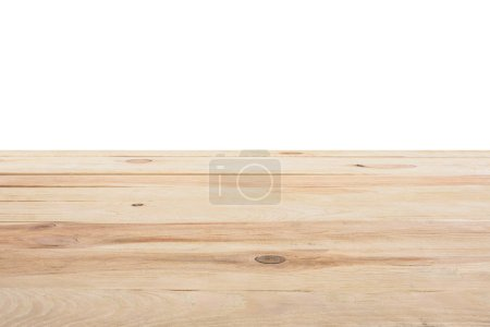 template of beige wooden floor on white background