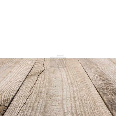 surface of beige wooden planks with white background