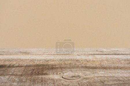 template of brown wooden floor with dark beige on background
