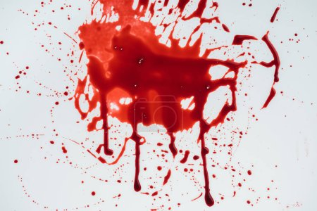 Photo for Top view of blood blot on white surface - Royalty Free Image
