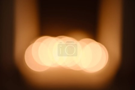 glowing abstract christmas bokeh background with copy space